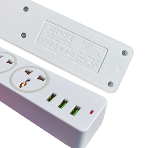 Image 5 - שולחן עבודה אוניברסלי שקע כוח רצועת האיחוד האירופי Plug 2M הארכת כבל בית משרד 3 AC לשקע 3 יציאת USB מטען מחוון אור בעל