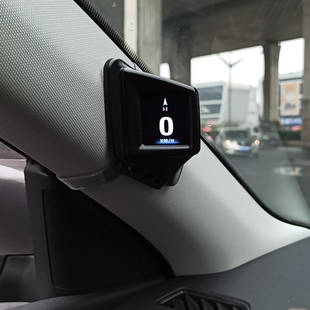 OBD GPS Dual System Head-up Display Display Car Digital Hud GPS Speedometer 2 Inches LCD Overspeed Alarm Car Speed Projector