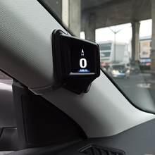 Sistema duplo obd gps head-up display carro digital hud gps velocímetro 2 polegadas lcd alarme de excesso de velocidade do carro projetor