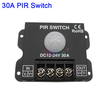 DC 12V 24V 30A PIR Sensor Switch Human body Infrared Motion Sensor LED Strip Dimmer Switch panel light Controller Switch body infrared pir switch motion sensor dc 5v 12v 24v human motion sensor detector led strip light lamp switch automatic