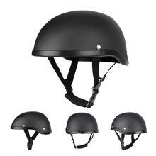 Мотоциклетный шлем из искусственной кожи черный Немецкий мотошлем