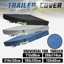 214x122x13cm Foldable Trailer Car Cover Waterproof Windproof Dustproof Outdoor Protector Canopy With Rubber Belt