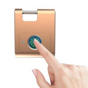 Image 4 - Casa Bluetooth In Lega di Zinco Porta di Sicurezza Gabinetto di Blocco Delle Impronte Digitali Keyless Intelligente 360 Gradi Dormitorio USB Ricaricabile Lucchetto