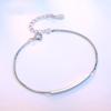 Wholesale NEW 925 sterling silver jewelry bracelet high quality fashion woman retro simple bracelet length 19.5CM