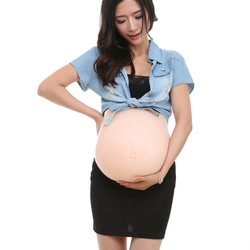 Premium Nep Buik Maand Zwangere Baby Bump Siliconen Protheses Tummy Mannen Bodysuit Sexy Heren Bodysuit