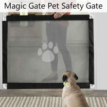 2019 Folding Dog Magic Gate For Pet Safety Gate Dogs Safe Guard and Install Pet Dog Safety Enclosure Dog Fences(China)