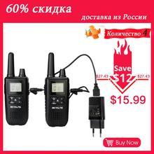 RETEVIS RT41 Walkie Talkie 2pcs Radio Portatile Per La Caccia VOX FRS NOAA Weather Alert di Ricarica USB Mini Walkie Talkie