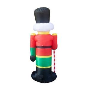 Image 4 - 240cm Nutcracker Air Inflatable Santa Claus Outdoor Christmas Decorations for Home Yard Garden Decor Merry Christmas noel 2019