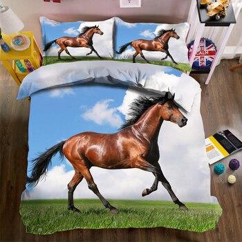 Customizable Bedding Duvet Cover set 3d Animal Horse Pattern Unicorn bedding set for Child Room Pillowcase Bed Duvet CP-012