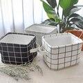DUNXDECO Lagerung Schreibtisch Zubehör Tisch Veranstalter Halter Box Nordic Moderne Weiß Schwarz Grau Überprüfen Multifunktions Container-in Home Office Aufbewahrung aus Heim und Garten bei