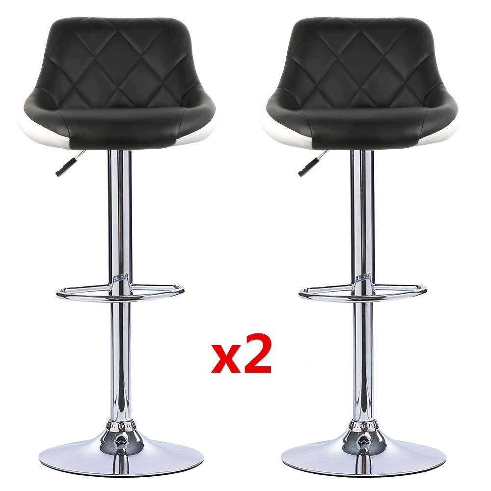 Europe And America 2pcs Swivel Bar Chairs Lift Adjustable Height Bar Stools Synthetic Leather Rotated Chaise De Bar Silla HWC