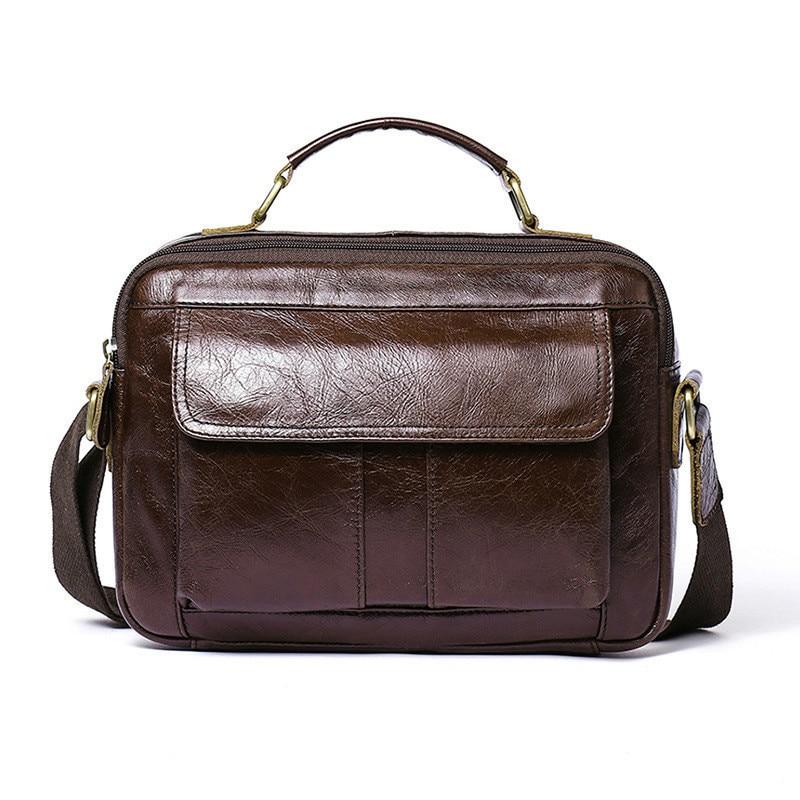 2020 Genuine Messenger Bag Men Leather Male Package Business Affairs Single Shoulder Handbag Leisure Time Man Commute Briefcase