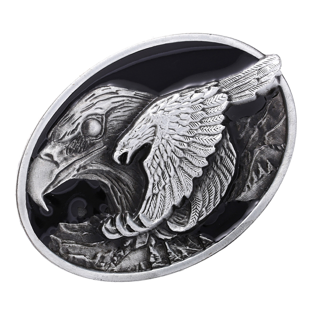 Flying Eagle Belt Buckle Western Indian Cowboy Cowgirl Jeans Accessories Metal Cool Diy Belt Accessory Suit For 3.6-3.9cm Belt