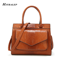 New Women Bag Luxury Alligator Handbags Women's Leather Hand bags with Pouch Ladies Trunk Tote Bolsos Women Messenger Bags new 100% handmade woven leather handbags tote women shoulder bags with detachable zipper pouch