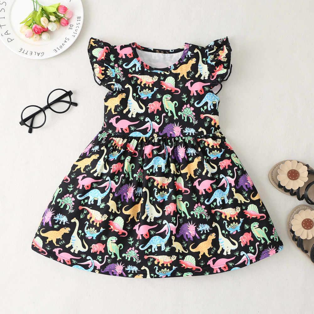 Meninas vestido de verão crianças roupas 2019 marca vestido da menina do bebê com faixas robe fille personagem princesa vestido crianças roupas