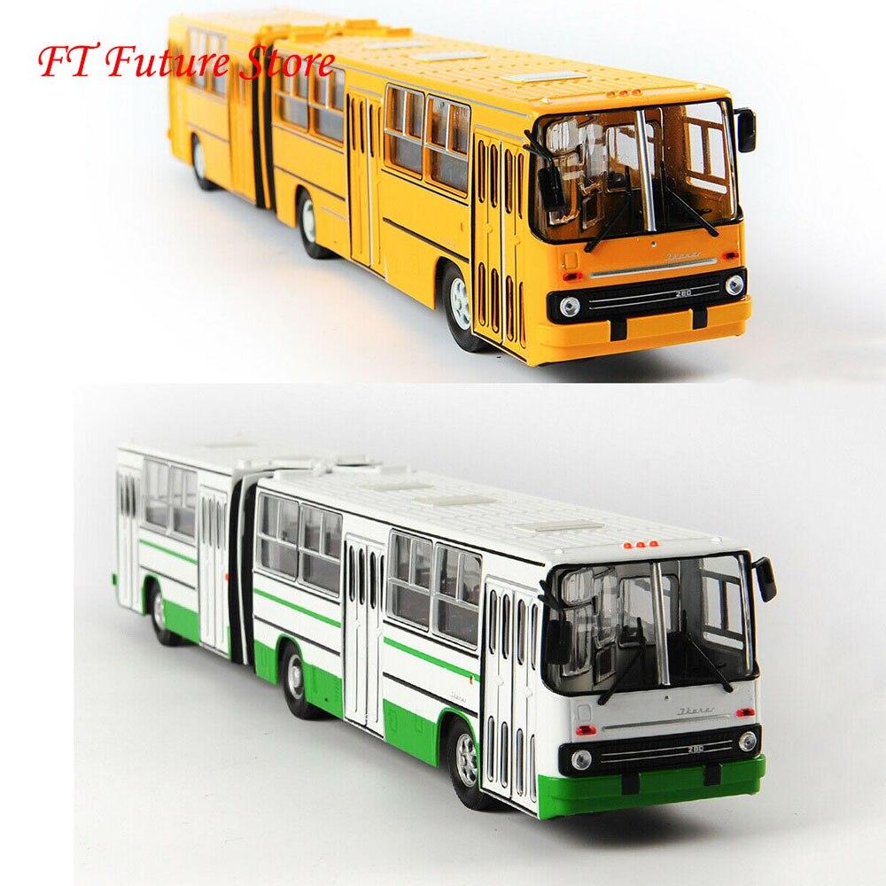 38cm en Stock pour Collection 1/43 échelle vert/jaune IKarus-280 alliage soviétique russie à deux étages Bus modèle cadeaux pour les Fans