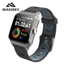 RU/ES/PL w magazynie! Strava Makibes BR3 mężczyźni inteligentne zegarki GPS SmartBand IP68 wodoodporna bransoletka opaska monitorująca aktywność fizyczną w wielu językach