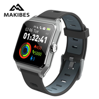 RU/ES in stock! Strava Makibes BR3 Men GPS Smart watches SmartBand IP68 Waterproof Fitness tracker for Black Firday