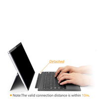 For Microsoft Surface Pro 3 4 5 Tablet Magnetic Bluetooth Bluetooth Keyboard PC Laptop Gaming Keyboard