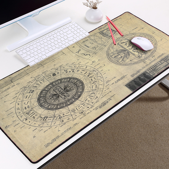 Mairuige STARGATE SG-1 Design Drawings Style Pattern Mousepad Mice Mat Pad Overlock Edge Large Size for Decorative Desktop