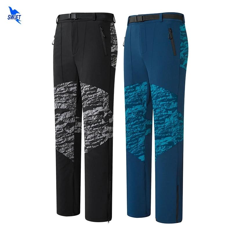 MEN Outdoor Warm WATERPROOF Hiking Ski camping Hunting Fleece Trousers Army pant