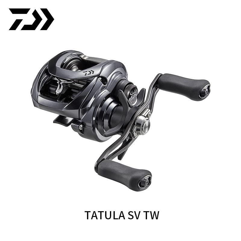 Рыболовная катушка DAIWA TATULA SV TW 2020, 7BB + 1RB, мягкая ручка для морской рыбалки, низкопрофильная Рыболовная катушка для правой или левой руки