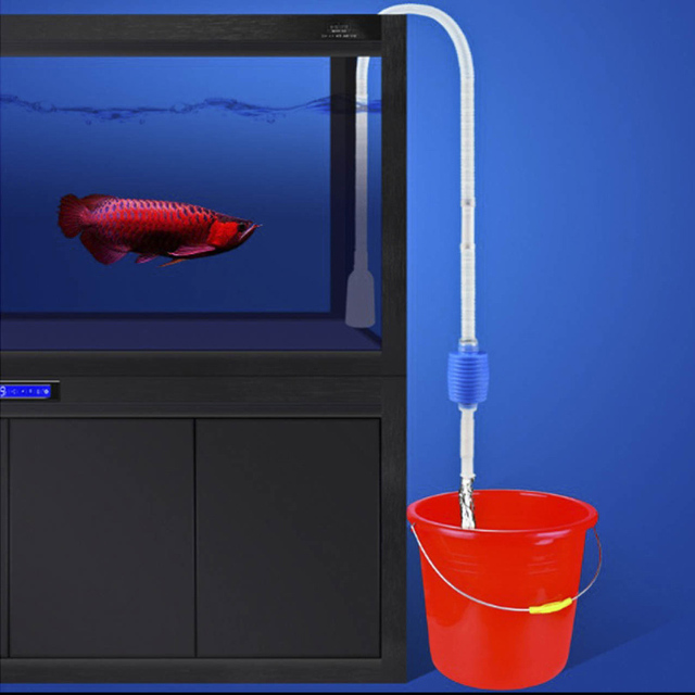 Aquarium Fish Tank Vacuum Gravel Water Filter Cleaner Manual Cleaner Pump Safe Vacuum Pump Aquatic Pet Supplies Cleaning Tools 2