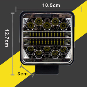 Image 5 - Car Led Light Bar 12V 24V 102W Work Light for Tractors Headlight Led Offroad Accessories Daytime Running Lights auto led ramp