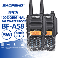 Buy 2pcs Baofeng BF-A58 IP67 Waterproof Walkie Talkie UHF VHF A58 Two Way Radio Comunicador CB Radio Walky Talky Professional Telsiz directly from merchant!