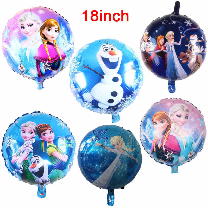 Disney Frozen  Princess Elsa Theme 18 inch Baby Shower Girl Foil Balloons Birthday Party Decorations Supplies Balloons 1pcs/lot