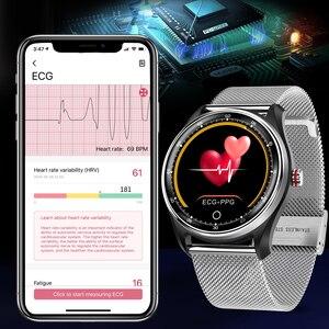 Image 3 - Cobrabie mx9 relógio inteligente masculino fitness ecg + ppg hrv freqüência cardíaca monitoramento de pressão arterial ip68 à prova dip68 água pulseira para android ios