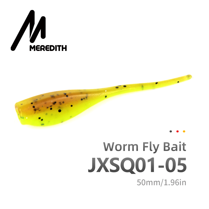MEREDITH Fishing Lures 50pcs 5cm 1g  STINGER SHAD SOFT BAIT SOFT PLASTIC LURES PREDATOR PIKE JXSQ01-05
