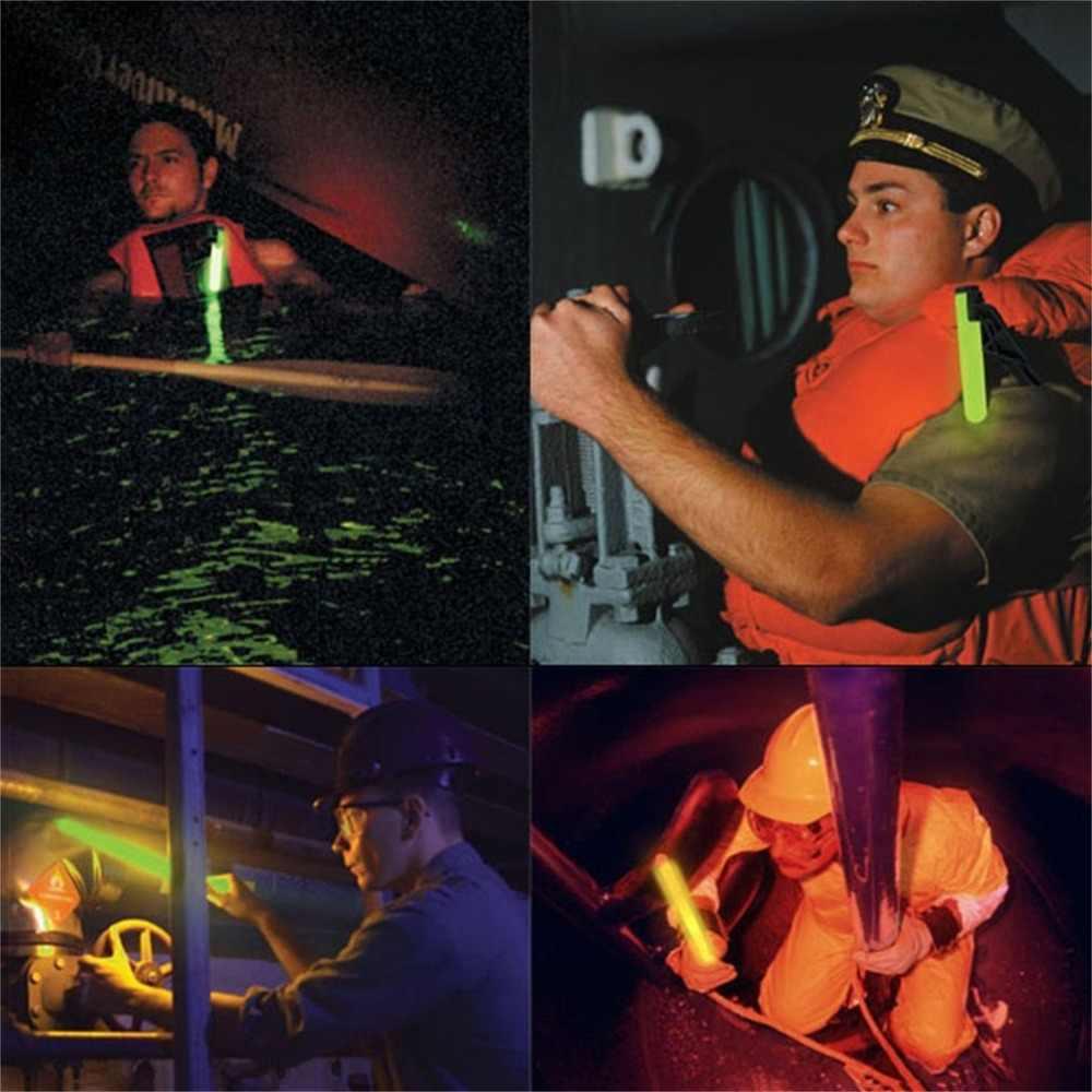 6-Inch Luce Spiedi Led di Plastica Spiedi Bacchette Rally Rave Cheer Bastoni Partito Lampeggiante Bastone di Incandescenza con Gancio per campeggio
