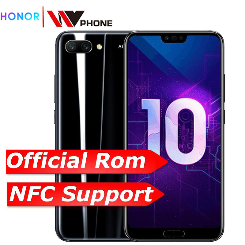 Huawei Honor 10 6G 64G 19:9 Full Screen 5.84 inch 2280x1080P AI Camera 24.0MP Mobile Phone Octa Core Fingerprint ID NFC
