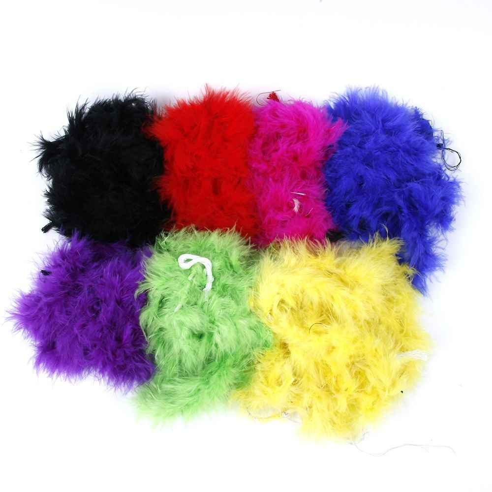 Hot 2M Feather Boa Strip Fluffy Craft Costume Fancy Dress Wedding Party Decor Xmas DIY Jewelry Decoration decorative Accessories