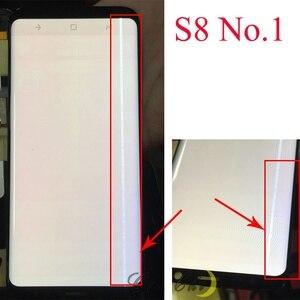 Image 2 - Do Samsung S9 wyświetlacz LCD dotykowy G960 G965 wyświetlacz LCD do Samsung S9 Plus wyświetlacz linii pasma LCD telefon komórkowy wadliwy ekran