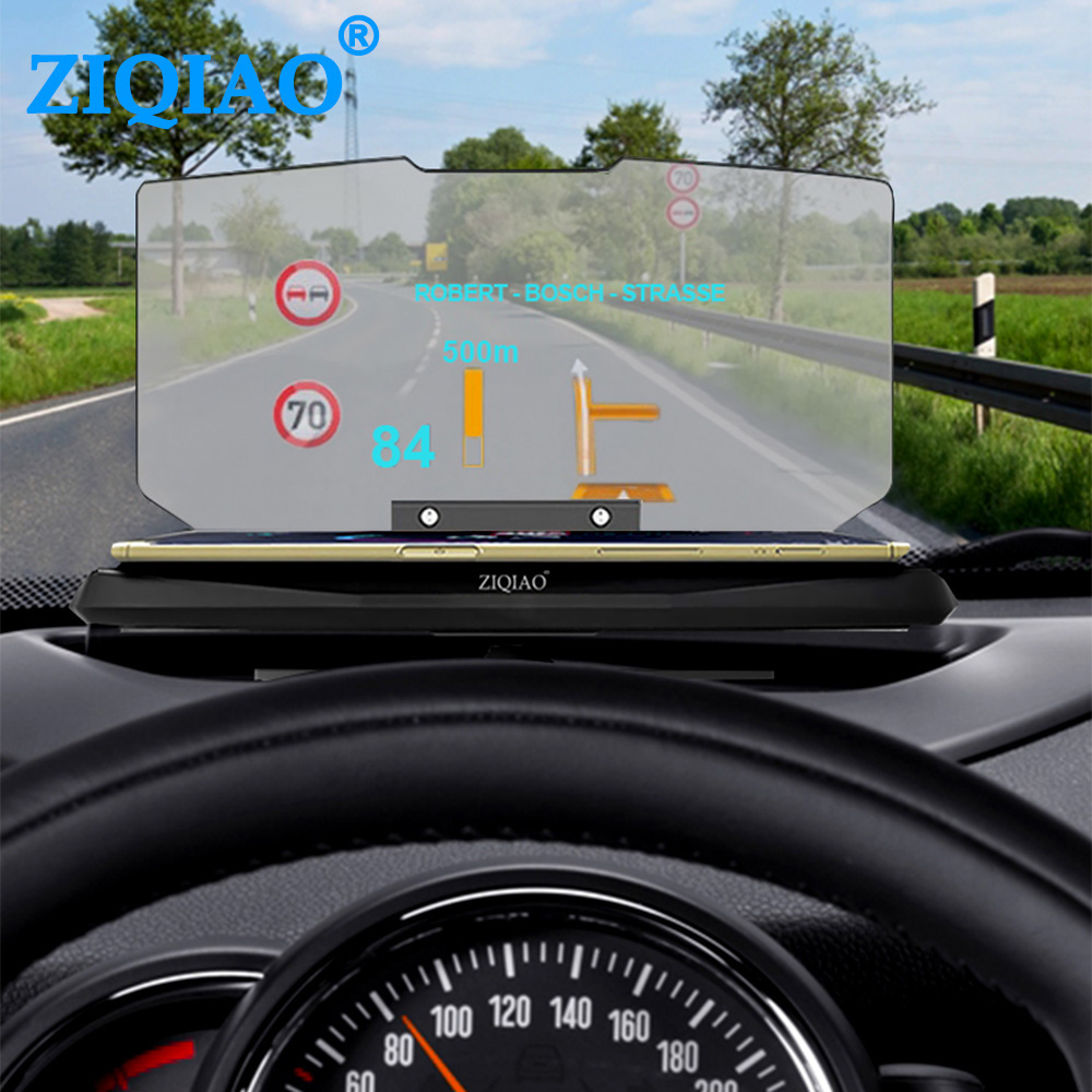 HUD Head Up Display Car HUD Navigation Mobile Phone Projector GPS Navigation Projector Phone Holder For IPhone Samsung Huawei