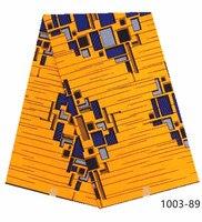 Veritable Wax Guaranteed Real Dutch Wax High Quality Wax 6yards African Ankara Sewing Fabric Free shipping 1003
