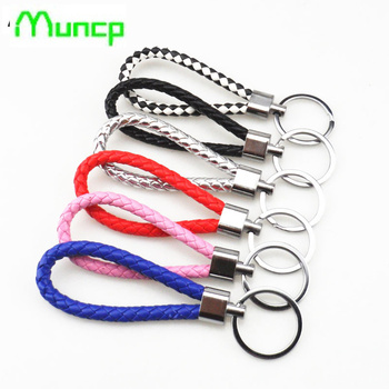 Handmade key braided rope keychain car chain braided rope keychain for BMW all series 1 2 3 4 5 6 7 X E F-series E46 E90 X1 X3 image