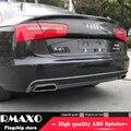 Для Audi A6 S6 обвес спойлер 2012-2015 для Audi A6 SLINE ABS задний спойлер передний бампер диффузор защитные бамперы