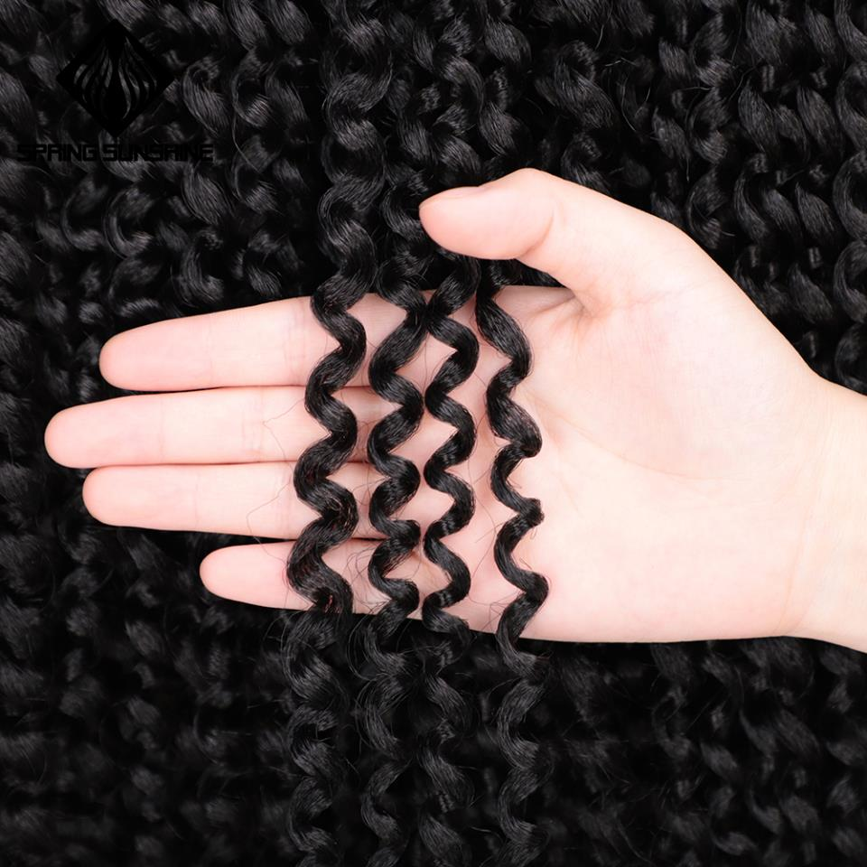 18inch Passion Twist Hair Synthetic Kinky Twist Crochet Braid Hair Extension Spring Twist Hair 22strands/pack Spring Sunshine