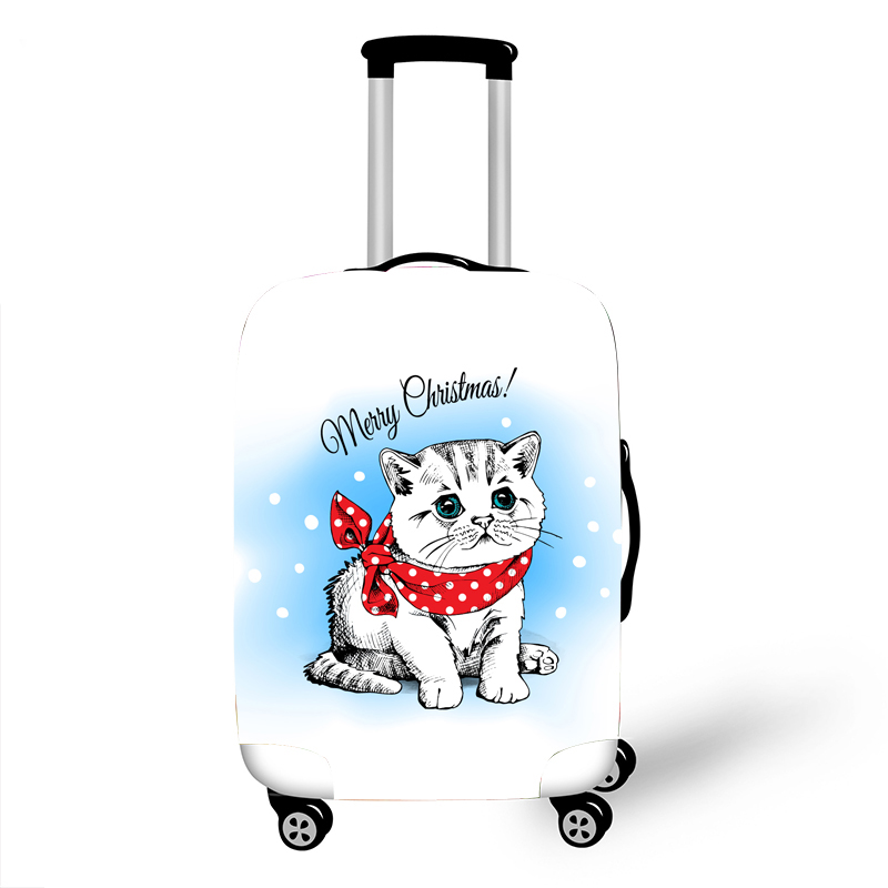 Elastic Luggage Protective Cover Case For Suitcase Protective Cover Trolley Cases Covers 3D Travel Accessories Cat Pattern 11200