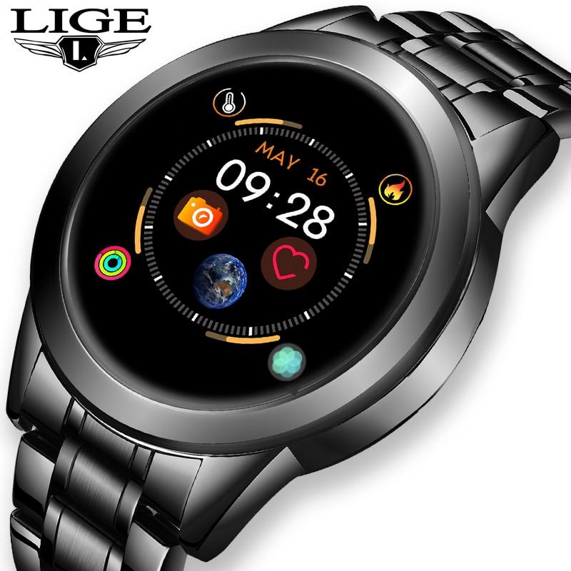 2020 New stainless steel Digital Watch Men Sport Watches Electronic LED Male Wrist Watch For Men Clock Waterproof Bluetooth Hour 1