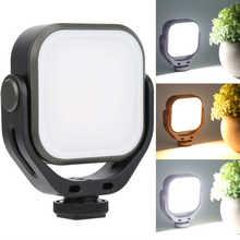 VIJIM VL66-luz de vídeo de relleno, luz de rotación de 360 grados de temperatura de doble Color para cámara sin espejo/luz de anillo SLR para selfie