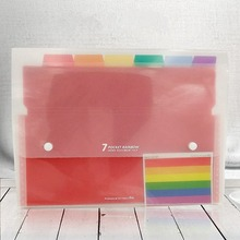 A4 папка-гармошка органайзер для документов красочный многослойный аккордеон папка органайзер для документов сумка
