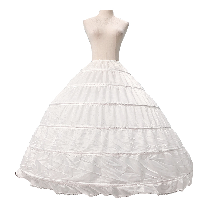 New Bride Skirt Petticoat 6-layer Steel Ring Wedding Dress Skirts Plus Size Skirts Large Pettiskirt For Wedding Dress