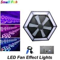 LED Fan etkisi ışıkları 504 adet SMD5050 LED sahne ışıkları DMX512 disko işıkları RGB 3IN1 DMX Dj ışıkları lazer projektör LED makinesi