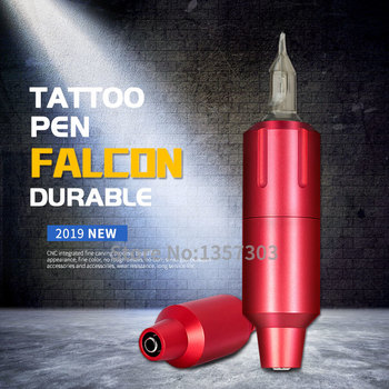 New Short Tattoo Pen Rotary Cartridge Tattoo Machine High Quality Strong Quiet Motor with RCA Clip Cord Falcon Tattoo Short Pen