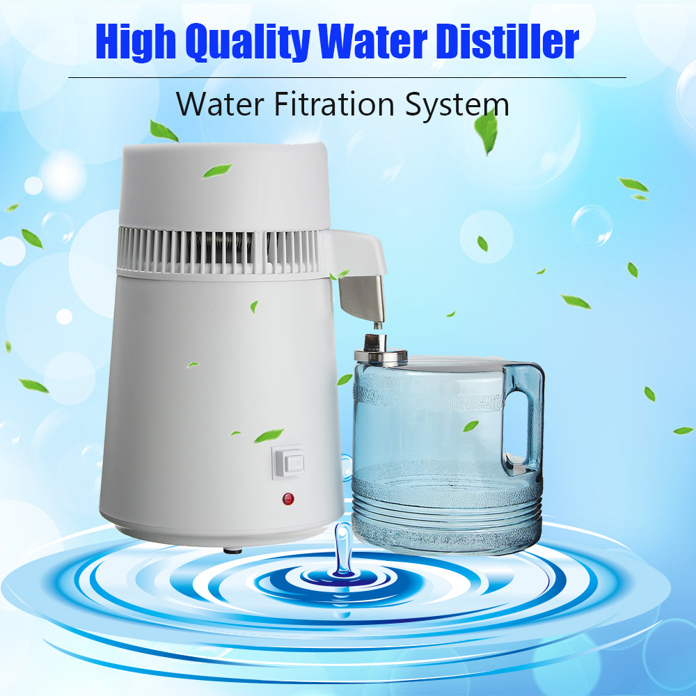 1Set 110V/220V Distilled Water Machine Safe Health Water Distiller Stainless Steel Household/Commercial/Lab Use Water Distiller