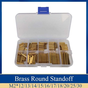 200pcs/Set Brass knurl Standoff  Round Threaded Female Female  PCB Motherboard Spacer Pillar Hollow Bolt kit 260pcs m2 pcb threaded brass male female standoff spacer board hex screws nut assortment box kit set with plastic box hollow